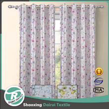 OEM service supply Dubai living room printing faux silk curtain drapes