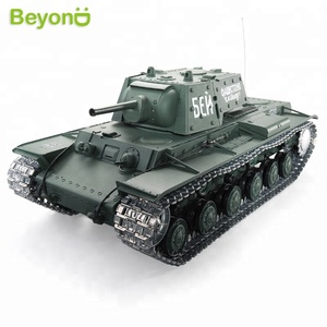 Radio Remote Control 1:16 Scale 2.4Ghz KV-1 Soviet Heavy Tank RC Battle Tank with Smoke & Sound (Metal Gear & tracks)