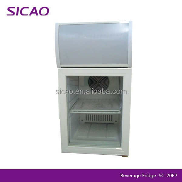 Hotel mini bar fridge 20L with glass door