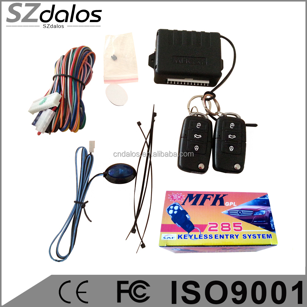 Universal Remote Control Central Door Lock Kit Locking Keyless Entry System