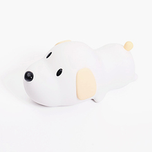 Bedside silicone mini baby cartoon pubby dog timing led night light