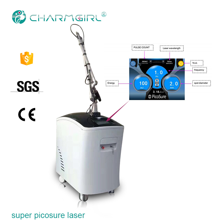 C 1064nm 532nm 755nm picosecond laser machine for tattoo removal