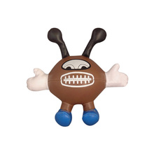 Vinyl PVC leather stuffed mini rugby ball doll toys for kid , kids gift ball doll toys