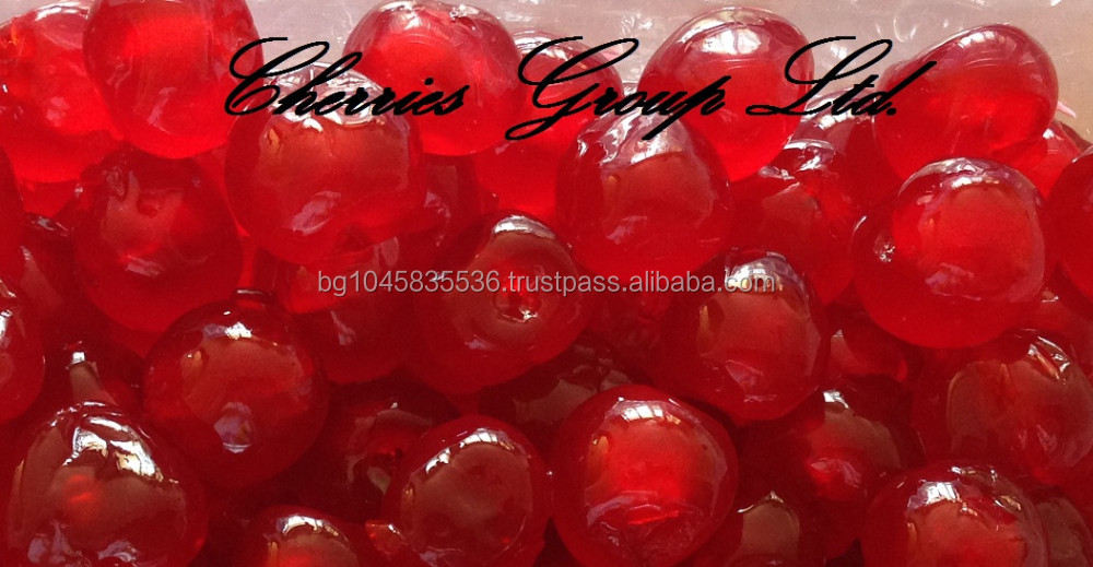 Glace cherries , Candied cherries