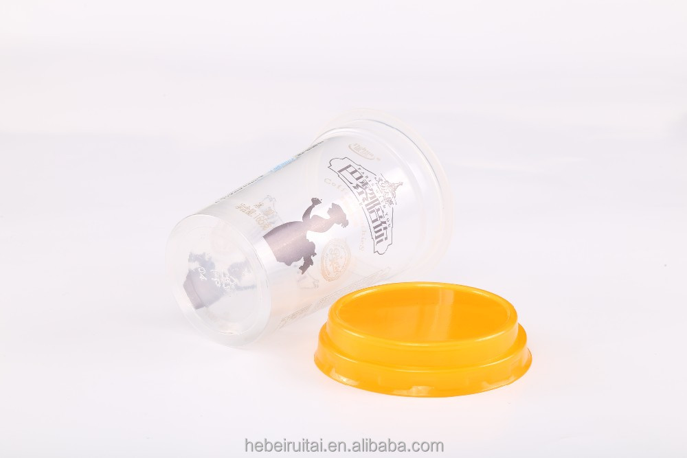 6oz Plastic Material and Beverage, Popcorn,Food, Ice-cream, Yogurt Use PET Smoothies Cup with Flat Lid