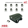 realtime net video surveillance security 8 channels cctv dvr for vehicle, H80 series