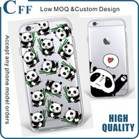 2017 New China cute panda For apple iPhone 7 plus case silicone Animation Custom For iPhone Case for Huawei P8 Lite Y5ii