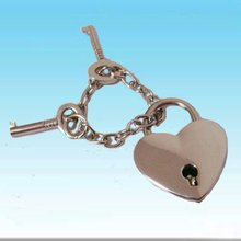 Zinc alloy heart shape diary lock and key,diary lock