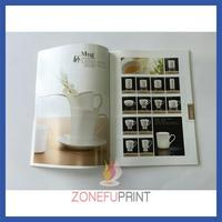 Stunning Full Color Book Printing Service Of catalogue with punched hole printing