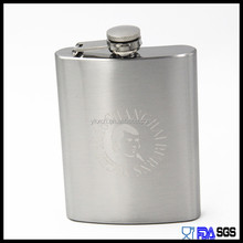 8OZ stainless steel engraved flask hip flask with laser logo