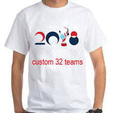 OEM custom all 32 football teams 2018 world cup national flag fans clothes T shirt