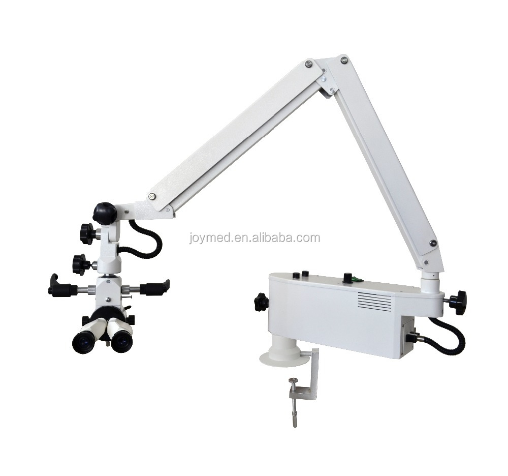 3 Step Magnification (2.4X-12X) Table Mounted ENT Surgical Operation Microscope W/ Straight Observation Angle