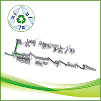 clear green blue PET waste bottle recycling line CE ISO Approved