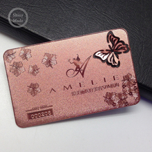 Cheap rose gold plated metal business <strong>card</strong>