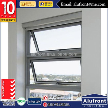 High quality single glazed window aluminum awning windows design