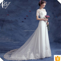 Factory Sell Cheap Mermaid Trumpet Wedding Dresses with Train Robe de Mariee Sirene TS583