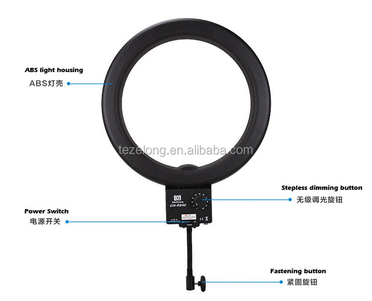 Nanguang flourascent light CN-R640 LED Studio Photography Ring Light