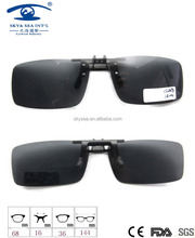 new design adult size clip on sunglasses unisex black clip on sunglasses