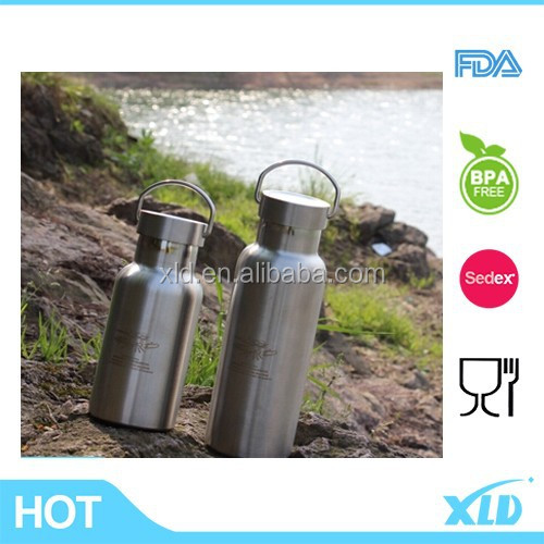 Easy carrying 18/8 stainless steel bottle swell water bottle with stainless steel sipper