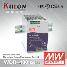 MEAN WELL 480w 24v dc DIN rail Power Supply WDR-480-24 din power source