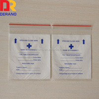 Cheap ldpe pill bags medicine bag(drug envelop) custom red line medicine bags