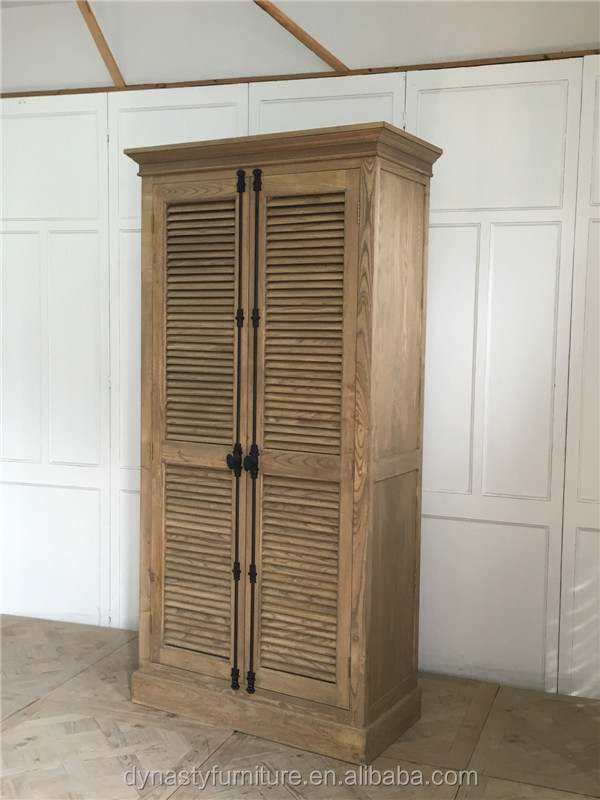 High quilty solid wood double color wardrobe design furniture bedroom