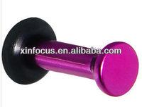 10 Gauge Fuchsia Metallic Pearl Acrylic Plug