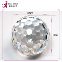 White Milky ball synthetic loose cz gemstone beads for jewellery making