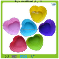 Heart shape silicone baking molds, silicone cupcake mold,silicone baking mould for Christmas decorations