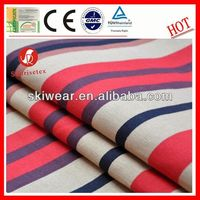 soft anti bacterial red white and blue striped fabric