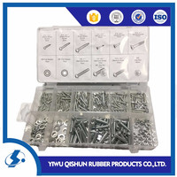 347pc hardware assortment fastener washer nut and bolt