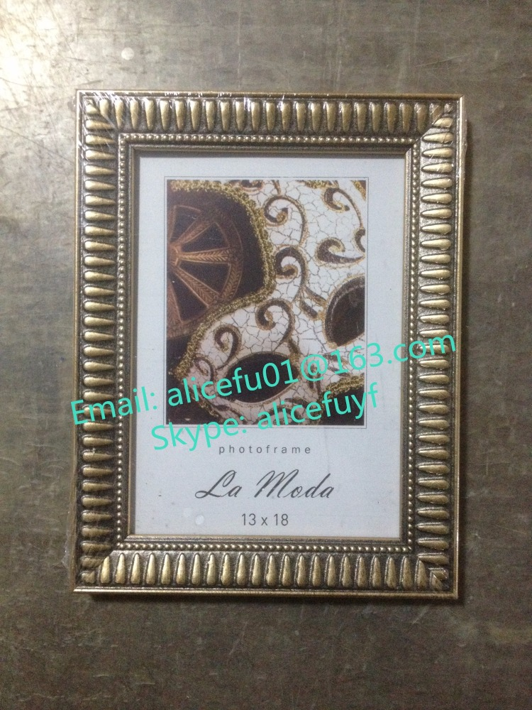 Wholesale Home Decor Wall Photo Frame Ornate Gold Plastic Picture Frame