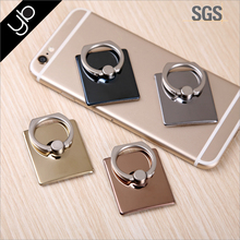 Finger Grip Ring Rotating Metal Phone Holder Stand with Car Mount for All Mobile Phones and Tablets and iPads