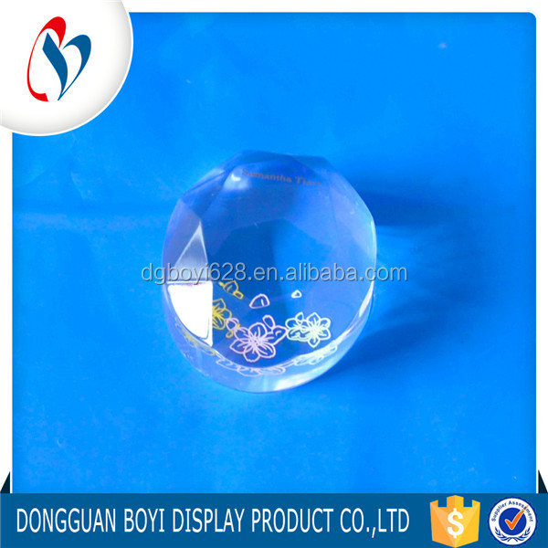 Engraved Multidimensional Clear Crystal Loose Flatback Oval Shape Acrylic Block Craft