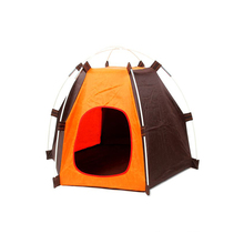 Durable pet dog camping tent for indoor or outdoor