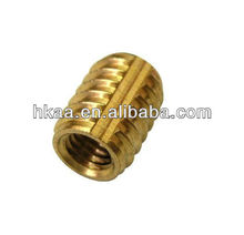 Low Price full thread self tapping bronze insert nut
