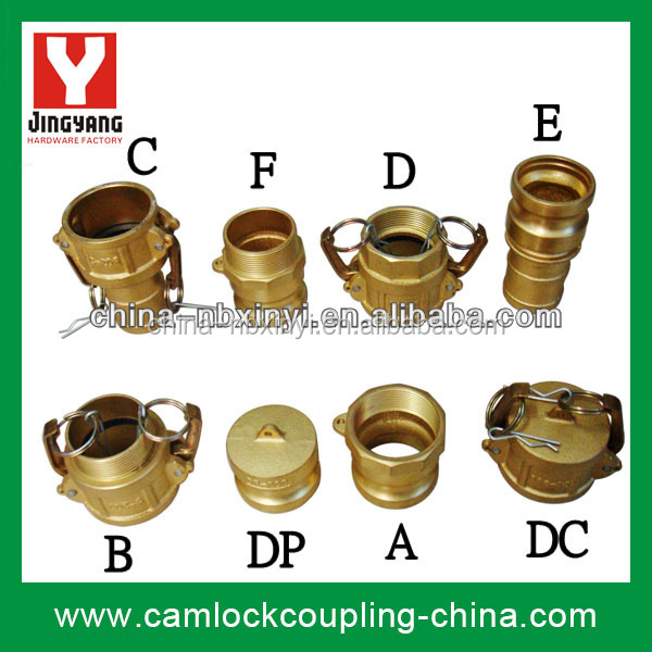Brass Camlock Quick Coupling / Cam Groove Hose Adapter