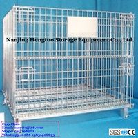 Industrial Stackable Collapsible Steel Metal Wire Mesh Box