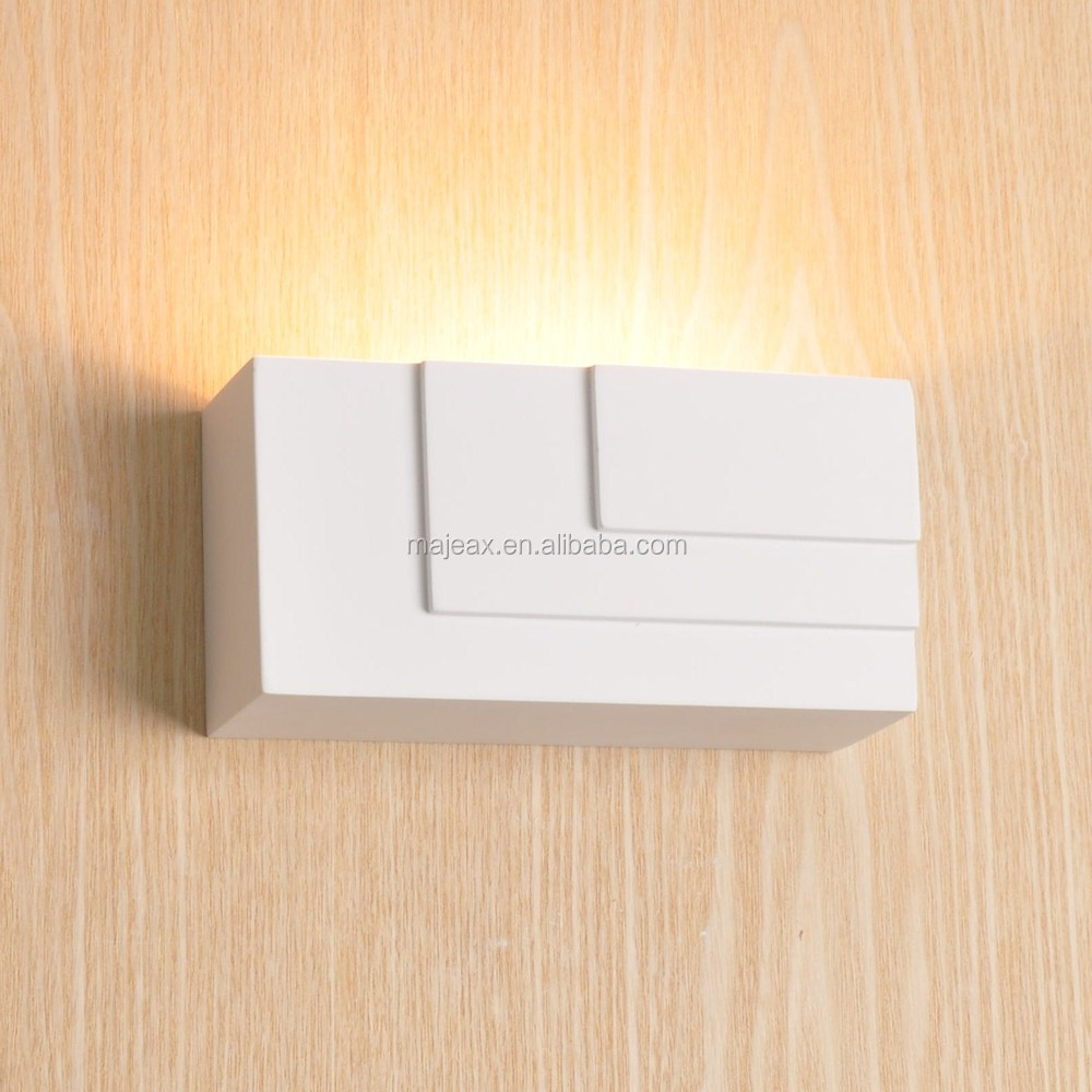 CE ROHS Approval plaster LED Gree modern indoor unique wall lamp