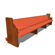 CH-B091, Long Wooden Church Pew Benches
