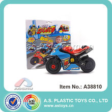 Wholesale low price pull back free assembly diy plastic toy mini motorcycle for boys