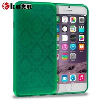 Green TPU Damask Design Luxury Case for Apple iPhone 6(4.7)