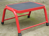 steel step ladder stool with rubber feet, step stool for home and market