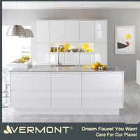 High quality modern design and white paint modern kitchen cabinets(VT-PK-059)