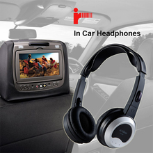 Wireless IR lightweight stereo children headphones for headrest dvd player