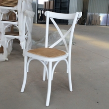 Dining Furniture White Color Cross Back Chair