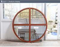 ROGENILAN 110 series fixed round arch top fixed glass windows