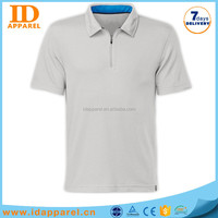 custom dry fit polo shirt , zipper collar polo shirt price