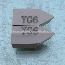 YG6 carbide brazed tips for cutting machines like lathe