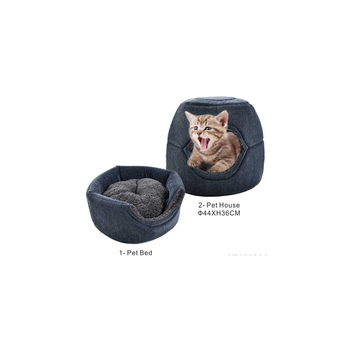 Two ways use comfortable warm soft cat bed round,cat sleeping bed